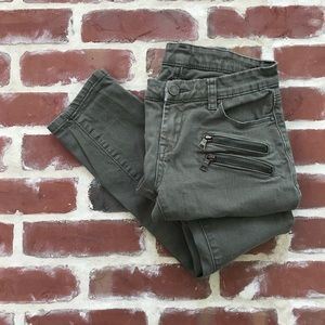 Blank NYC Olive Army Green Skinny Jeans