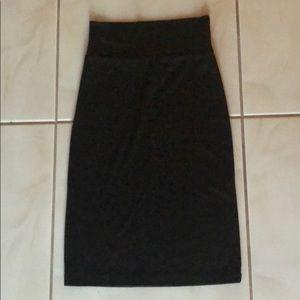 Xhilaration Black Cotton Pencil Skirt