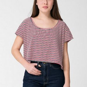 American Apparel striped crop top never worn