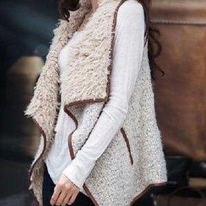 Off White Faux Fur Vest
