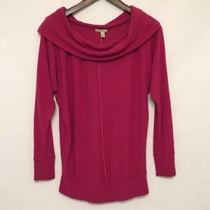 Bordeaux for Anthropologie Dark Pink Sweater
