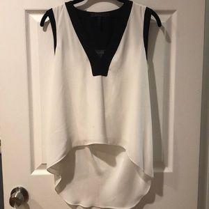 Black and white brand new BCBGmaxazria blouse.
