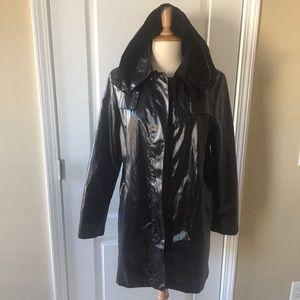 Cole Haan Black Rain Coat Sz. Large