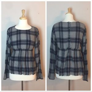 Cloth & Stone Flannel empire top M
