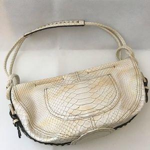 Liz Claiborne Hobo Handbag Ivory / Gold