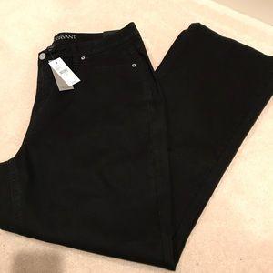 Lane Bryant black bootcut jeans 20 NEW
