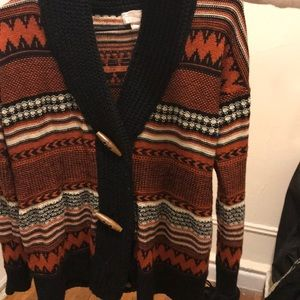 Forever 21 Contemporary Tribal Sweater xs