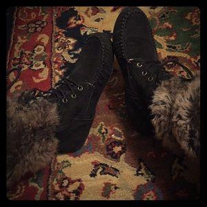 Aldo boots w/fur