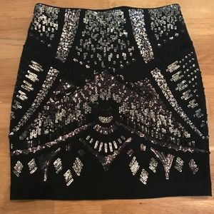 NWT Express sequin mini skirt