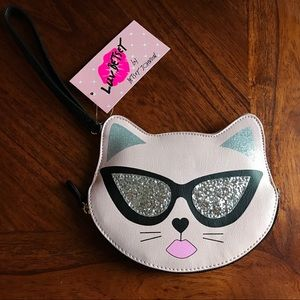 NWT Betsey Johnson Cool Cat Coin Purse