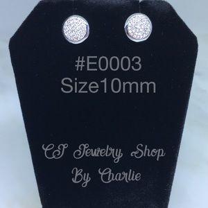 925 Sterling Silver Cubic Zirconia Stud Earring