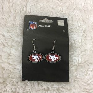 NFL San Francisco 49ers Dangly Earrings NWT