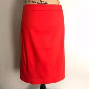 Ann Taylor Loft Orange Pencil Skirt