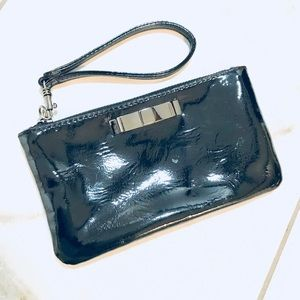 Express Black Wristlet with Bow Detail