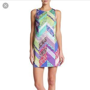 NWT Trina Turk Cosme Floral Chevron Dress Sz 4