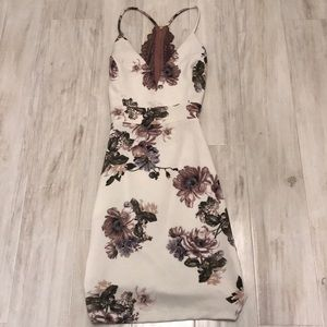 ♡ floral bodycon dress ♡