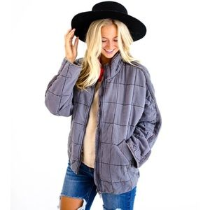 NWT FREE PEOPLE DOLMAN QUILTED JACKET