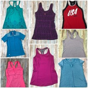 8 Athletic Tops Workout Nike Adidas Lucy