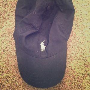 Navy blue polo baseball cap