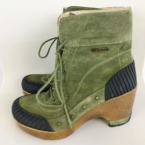 Jambu Netherlands Olive Leather Booties