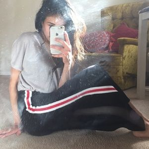 Black Sporty maxi skirt