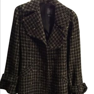 Women's Armani Wool Houndstooth Coat
