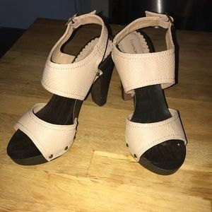Size 6.5 brown and tan heels