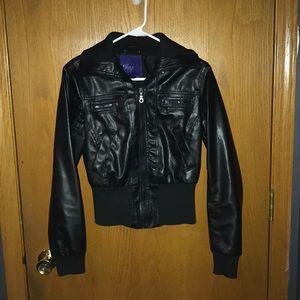 Miley Cyrus edition Black Leather Jacket