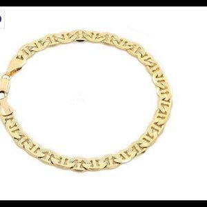 14k Gold Filled Matt Finished Gucci Link Bracelet