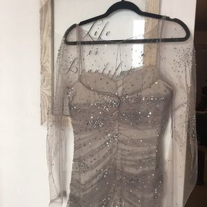 Badgley Mischka couture, sequin dress