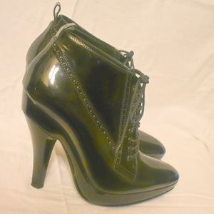 Auth Burberry Ankle Boots Oxfords Booties 39 8.5