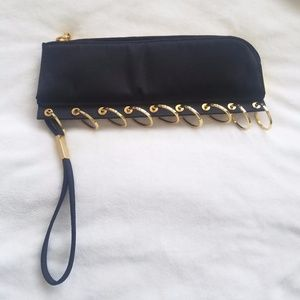 Michael Teperson Clutch (Black and Gold)