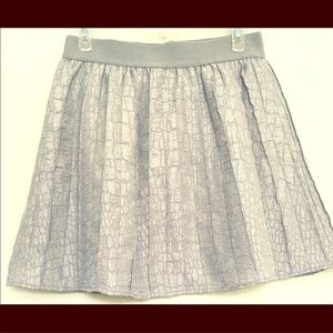 Nordstrom's Hinge Silver Pleated Skirt size Small