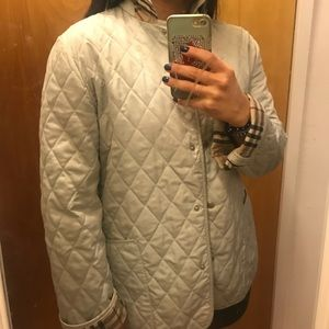 Burberry London Quilted Jacket Light Mint