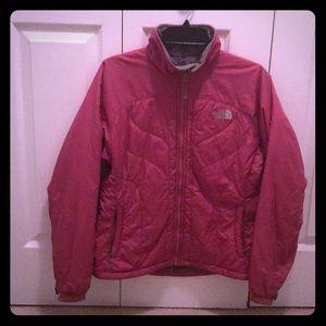 North Face - pink medium weight puffer jacket