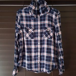 Aeropostale Button Down With Hoodie - Size L
