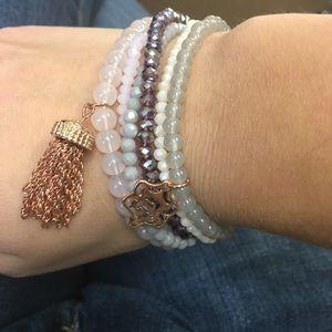 Nanette Lepore stretchy bracelet set