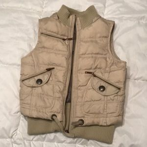 Tan vest with cute detail