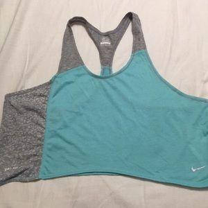 Nwot. Nike dri-fit color block cropped tank.