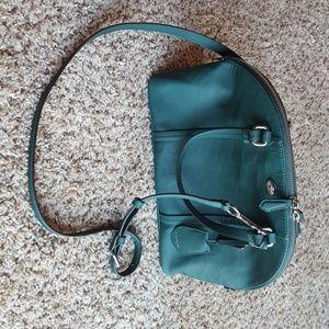 New Coach leather sierra satchel in hunter green