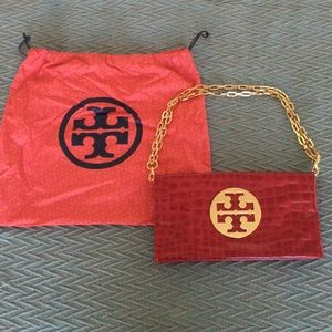 New Tory Burch Red Clutch