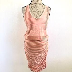 Athleta Racerback Ruched Tulip Dress Size L
