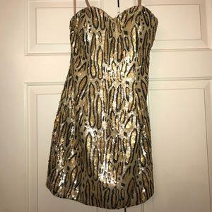 La Femme leopard dress