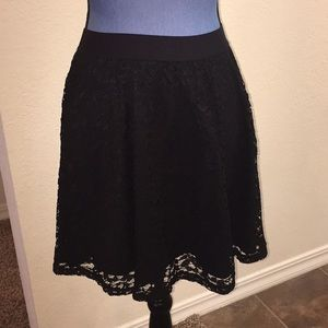 NWT Lauren Conrad Black Lace Skirt