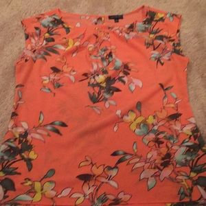 Silky material sleeveless blouse size small