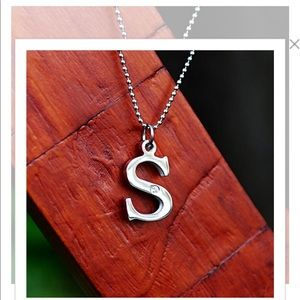 "Rustic Cuff initial ""s"" necklace new with tags"