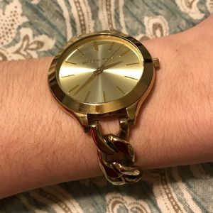 Michael Kors Runway Gold Tone Stainless Watch