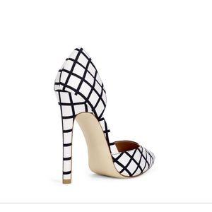⭐️NIB JustFab Marta Black & White Heels Sz 8.5 🌸