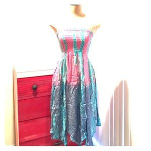 Tube top midi dress