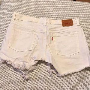 White Levi jean short!